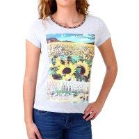 Madonna T-Shirt Damen TIRIL Rundhals mit Perlen Sunflower...