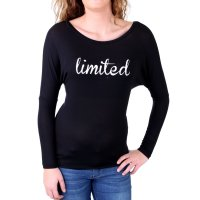 Madonna Langarmshirt Damen LORI Wide Neck Limited Print...