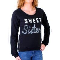 Madonna Sweatshirt Damen LIZ Deko-Zipper Short Sweater...