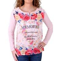 Madonna Langarmshirt Damen PALMIRA Flower Memories Print...