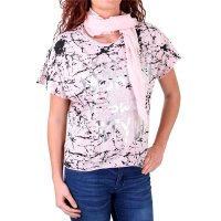Madonna T-Shirt Damen VERENNA Oversize Allover Print...