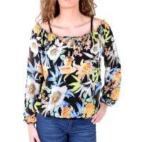 Madonna Langarmshirt Damen SOLE 2in1 Blumen Muster...